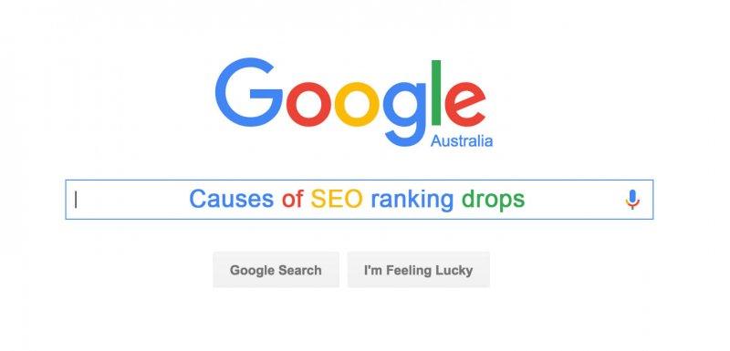 Google SEO Ranking Drops